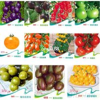 Wholesale TOMATO SEEDS Purple Cherokee Cherry Black Red Yellow Blue Zebra Tomato Fruit Vegetable Bonsai Food