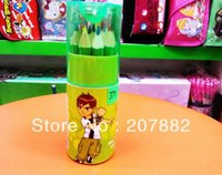 Wholesale Sets Fashion Ben Children Colored Pencil Cartoon Colors Pencil For Kids A2640