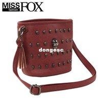 Cheap Fashion skull bucket Designer Leather Handbags High Quality Women messenger bag tassel Small Bags Free Shipping