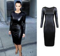 Wholesale New Genuine Soft Lambskin Leather dress Women Designer Ladies partywear sexy hot