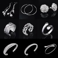 Wholesale Jewelry sets earrings rings bracelets anti allergic silver plated jewelry sets YDHJ