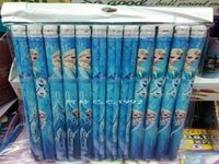 Wholesale Frozen pencil Frozen Princess Elsa Anna Cartoon School Study pencil Snow Queen Princess Office Stationery Children Suppliesr Autopens K036F