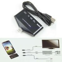 Cheap L109Micro USB OTG Card Reader HUB MHL to HDMI HDTV TV Adapter For Galaxy S3 S4 Note2