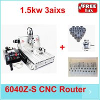 Wholesale Ship fr UK price small cnc milling machine Z S80 CNC router axis KW for marble metal spring collects tool bits