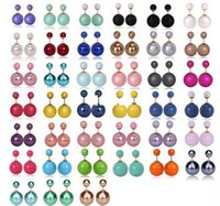 Wholesale 16mm Earrings Double Side Shining Pearl Stud Earrings Big Pearl Earrings For Women