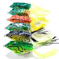 Wholesale 6pcs D Eyes Soft Fishing Frog Lure Crankbait Hooks Baits g cm