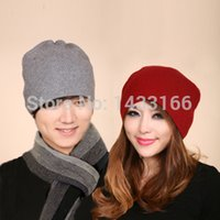 Cheap Wholesale-Warm winter double-thick section pure cashmere yarn warm fashion cap