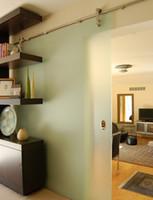 door hardware - Modern sliding glass barn door stainless steel hardware kit