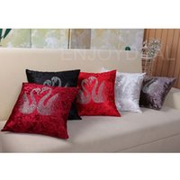 polypropylene bags - Affordable x45 Home Decorative Throw Pillow Case Bag wiht Hot Drilling Swans Pattern