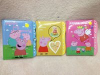 Cheap New Hot 24 Pcs High quality Peppa Pig Children's Combination lock Notebook Stationery Gift