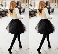 maxi - 2015 Spring Short Tulle Skirt Ribbon Edge Tulle Custom Made Mini Length Ball Gown Black Women Skirts Plus Size Maxi Skirts Fast Shipping