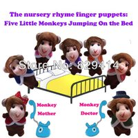 animal rhymes - Velvet Animals Finger Puppets for Baby Learning amp Education the Nursery Rhyme Five Little Monkeys Jumping On The Bed