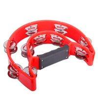 Wholesale IMC Double Half Moon Tambourine Instrument Grip Handle Red order lt no track