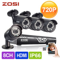 Wholesale ZOSI HD CH CCTV System P DVR P TVL IR Outdoor Video Surveillance Security Camera System channel DVR Kit