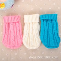Wholesale New Spring Autumn Pet Dog Cat Sweater Winter Warm Knitwear Knit Clothesfor Dogs Puppy Coat Apparel
