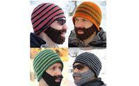 Wholesale DHL FedEx Handmade Knitted Crochet Beard Hat Casual Warm Winter Men Bicycle Mask Ski Cap Roman knight Octopus Cool Funny Beanies Balaclava
