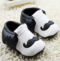 baby shoes charm - tassel baby shoes high top toddler shoes charm beard children casual shoes girls boys leather shoes infant shoes pairs C