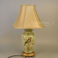 bedroom decorating crafts - American country style hand painted birds and flowers decorated the living room table lamp bedroom den jewelry crafts decorative