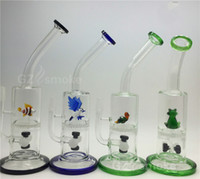 glass fish bowl - Funny Colorful Animal Two Functions Water Glass Bong Green Turtle Eagle Fish Frog Swan Honeycomb Oil Rigs heady Bongs dab dry bowl dome