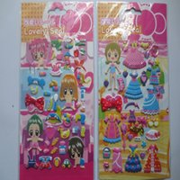 Wholesale Manufacturers princess dress girl clothes three dimensional stickers stickers children cartoon stickers stickers Korea