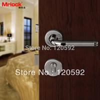 Wholesale Foreign trade export brand stainless steel wood door lock hold hand lock indoor bedroom room door lock