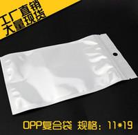Usb de la caja de plástico Baratos-Claro blanco de la perla de plástico poli Bolsas OPP embalaje de la cremallera de bloqueo del paquete al por menor de accesorios de PVC Cajas Mano agujero para USB de Samsung del iPhone del teléfono celular
