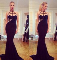 Sheath/Column best formal wear - Simple Lace Mermaid Prom Dresses Floor Length Black Sexy Elegant Evening Party Formal Prom Gowns Best Selling