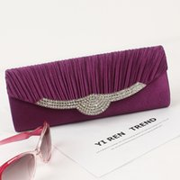 affordable messenger bags - Hot Selling Europe Cheap Purple Diamond Clutch Bags For Wedding Ladies Black Affordable Handbag Cute Messenger Bag