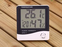 Wholesale 4 in Indoor and outdoor electronic hygrometer digital thermometer alarm clock DRO
