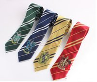 Wholesale Harry Potter Tie Halloween Costume Accessories Harry Potter Gryffindor Tie Slytherin Tie Ravenclaw Tie Hufflepuff Striped Ties