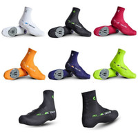 Wholesale Bicycle Breathable Windproof Shoe Covers Bike Cycling Zippered Overshoes color