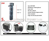 Wholesale 1200L H Aquarium Fish Tank Internal Filter Water Pump With Three Function Filtering Oxygen Aeration and Water Circulation