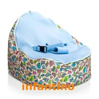 Wholesale Chirpy birds with blue seat Comfortable baby bean bag