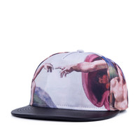 baseball portraits - New Polyester and Leather Unique Adjustable Portrait Print Hip Hop Fashion Snapback Cap Hat Baseball Cap hats