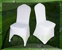 Wholesale 100 White Color Spandex Chair Cover for Wedding Party Decorations Banquet Hot Sale Big Discount