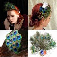 Wholesale 10 Natural Peacock Feathers quot quot cm cm Beautiful Style DIY Decoration Hat Decoration Wedding Chrismas