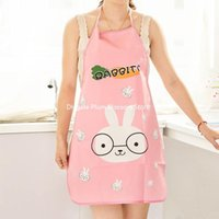 Wholesale Kitchen Apron home Apron bust cartoon kitchen aprons cute aprons PVC waterproof anti oil stain sleeveless Apron