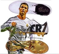 Wholesale 2014 New Launch Soccer Cleats CR7 Special Edition Gold studs Ronaldo Soccer Shoes New CR7 Soccer Shoes