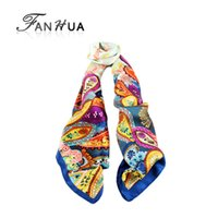 Wholesale 2014 New Arrival Fashion Colorful Printed Created Silk Square Scarves For Women