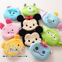 Wholesale new Tsum Anime Tsum Plush Purse cartoon Despicable Me Monsters University kitty Dora line Soft Toys children bags birthday gifts