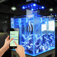 Wholesale New arrival wifi control w led aquarium light COB LENS for coral reef fishing tank Dimmable aquarium grow lights fixture DE US stock