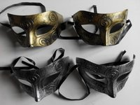 Wholesale Men s Retro Greco Roman Gladiator Masquerade Masks Vintage Golden Silver Mask Carnival Mask Mens Halloween Costume Party Mask