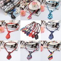 Wholesale Fashion Pet Dog Supplies Polyester Silk Pet Tie Dog Necktie Adjustable Dog Apparel Pet Grooming Supplies QBA