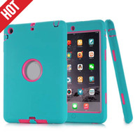 Wholesale 3 in Heavy Shockproof Hybrid Layer Case For Ipad Mini ipad Air Air2 Armor Impact Combo Hard Plastic Soft Silicone