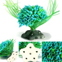 Wholesale 2015 New Artificial Water Plant Decor Plastic Green Grass Ornament for Fish Tank Aquarium Christmas Gift