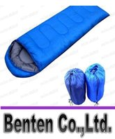 Wholesale thermal sleeping bag autumn and winter envelope hooded outdoor camping adult sleeping bag LLFA3904F