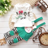 baby girl material - 2015 Baby Girl Clothes New Autumn Baby Girls Clothing Set Cartoon Design Soft Material Years Old Suit