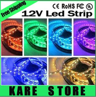 Wholesale X5pcs SMD M Leds a roll Led light Strip Waterproof white warm white red blue yellow green RGB led strips