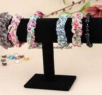 Wholesale bracelet chain watch T bar rack jewelry display organizer stand holder black velvet New