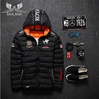 Cheap 2016 mens winter warm downs jacket brand Thick cotton embroidery men down parka coat printing black Outdoor fashion sport hooded